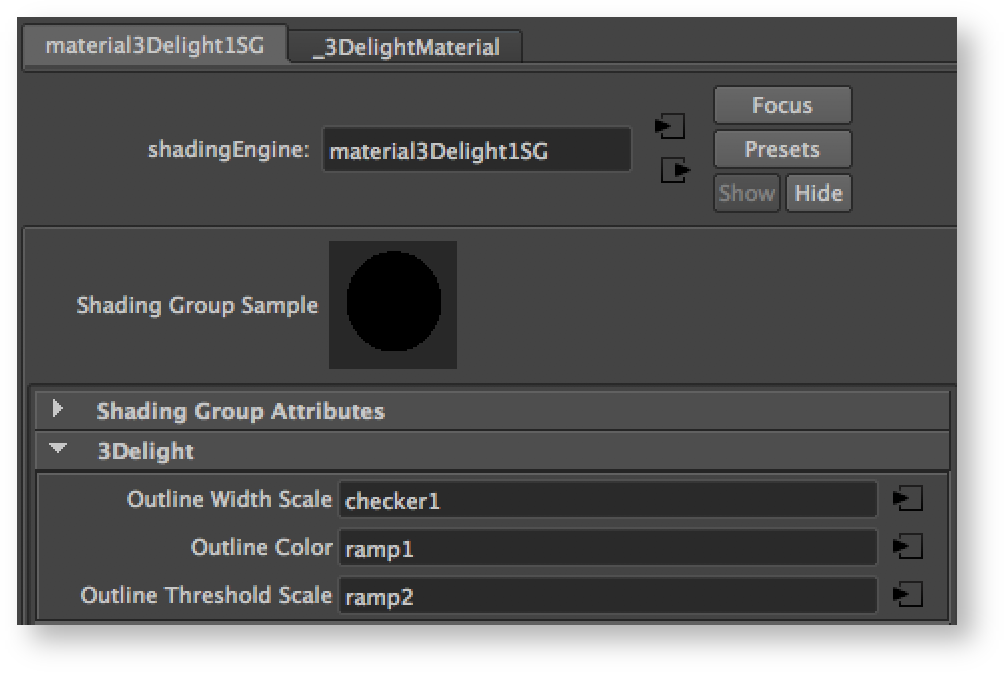 Layers Outlining - 3Delight for Maya (RenderMan) - 3DL Docs